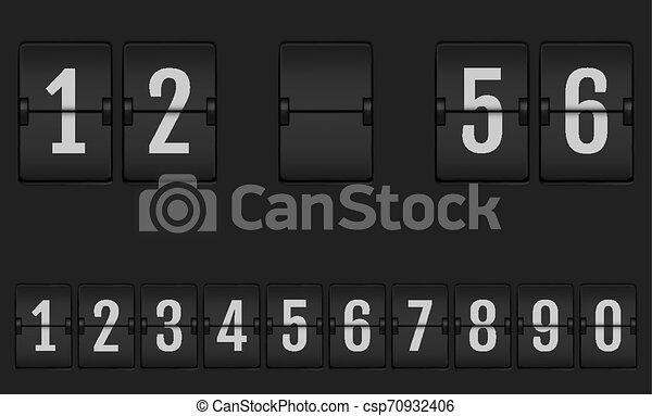 Números del alfabeto de marcador mecánico. - csp70932406