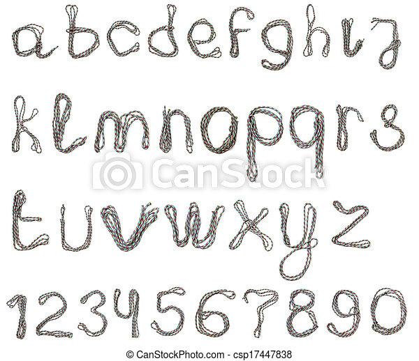 Alphabet of cotton rope - csp17447838