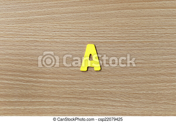 alphabet of English language. - csp22079425