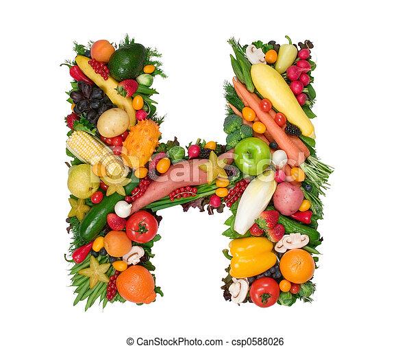 Alphabet of Health - csp0588026