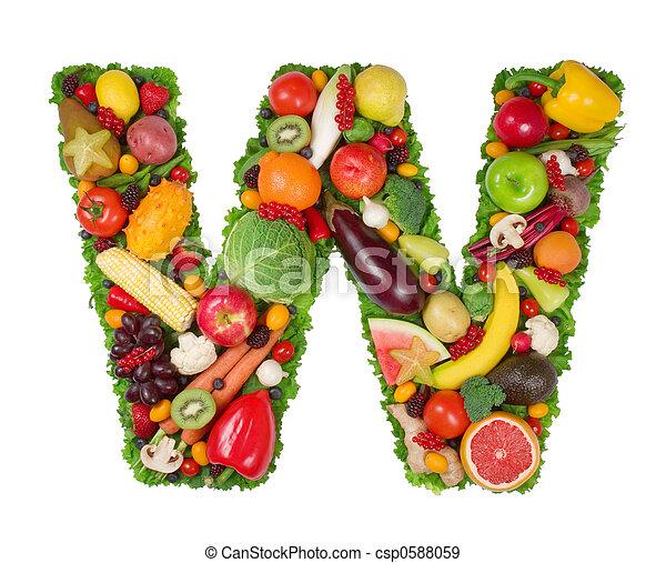 Alphabet of Health - csp0588059
