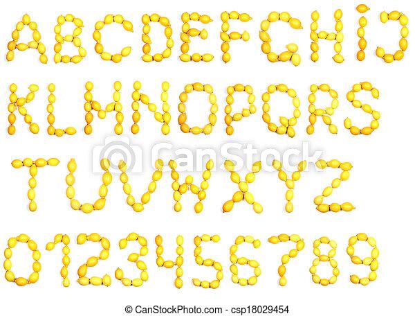 Alphabet of lemon - csp18029454