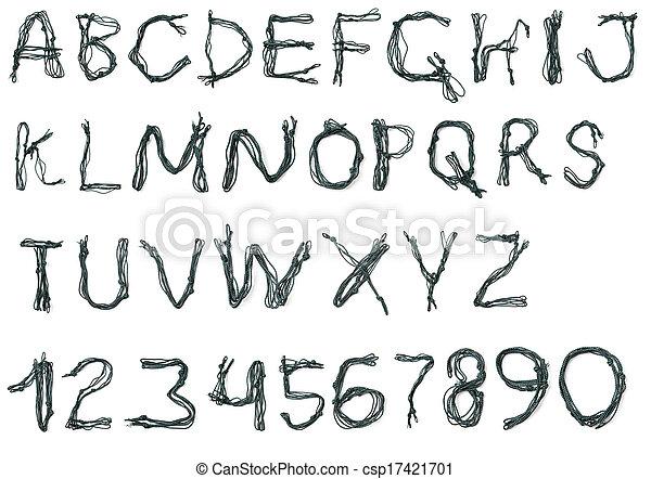 Alphabet of rope - csp17421701
