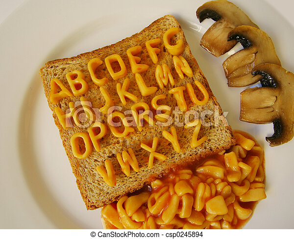 alphabet on toast - csp0245894