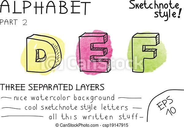 Alphabet - Part 2 - csp19147915