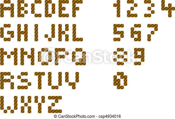 alphabet pixel