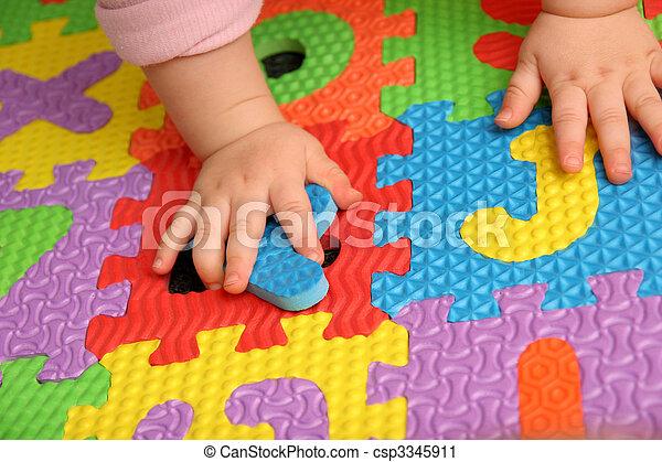alphabet puzzle - csp3345911