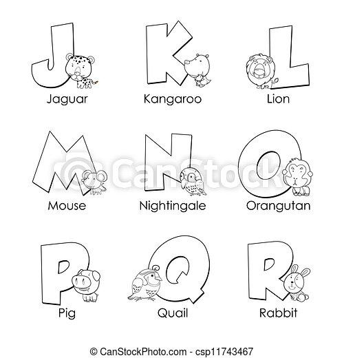 Alphabet, r, färbung, kinder Clipart Vektor - Suchen Sie nach ...