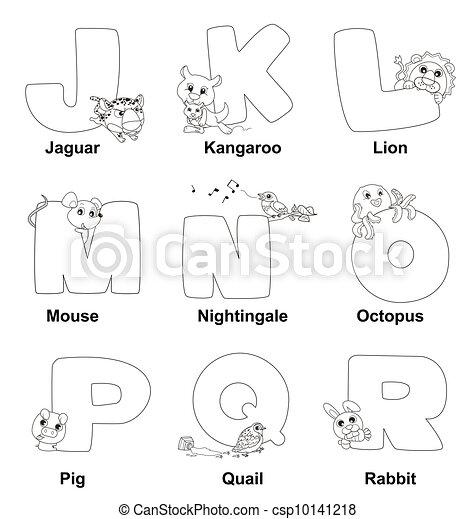 Alphabet, r, färbung, kinder Vektor Clipart - Suchen Sie ...