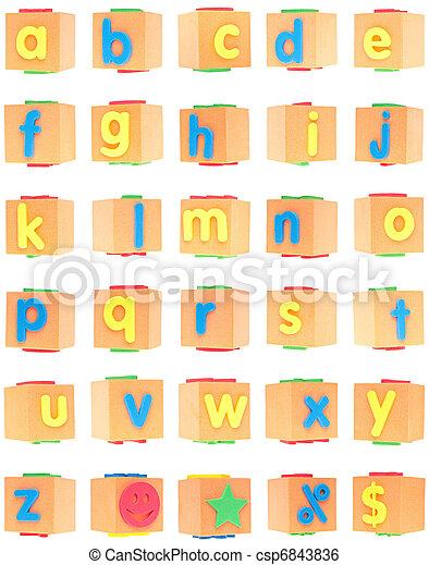 Alphabet Set on Foam Blocks - csp6843836