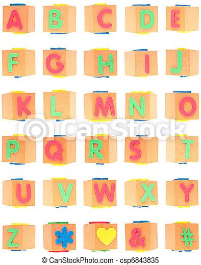 Alphabet Set on Foam Blocks - csp6843835