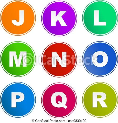 alphabet sign icons - csp0839199