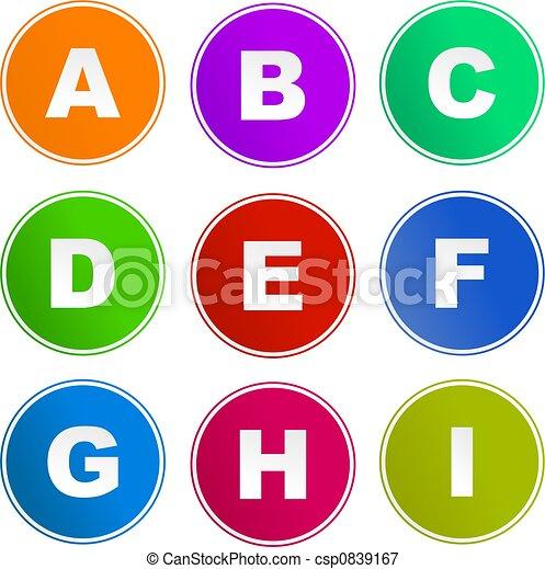 alphabet sign icons - csp0839167