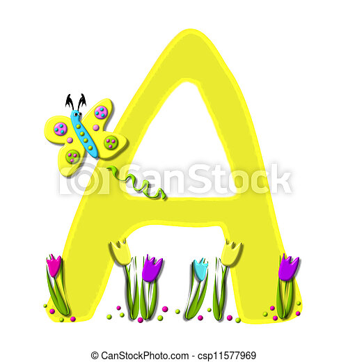Alphabet Spring has Sprung A - csp11577969