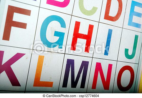 alphabet - csp12774604