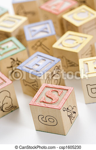 Alphabet toy blocks. - csp1605230