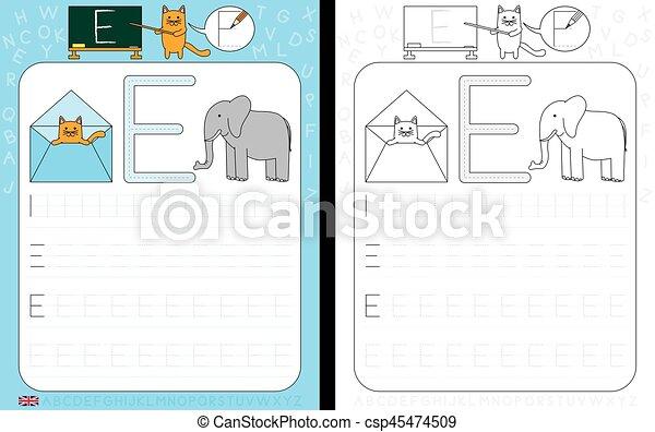 Alphabet, verfolgen, arbeitsblatt. Üben, arbeitsblatt, -, schreiben ...