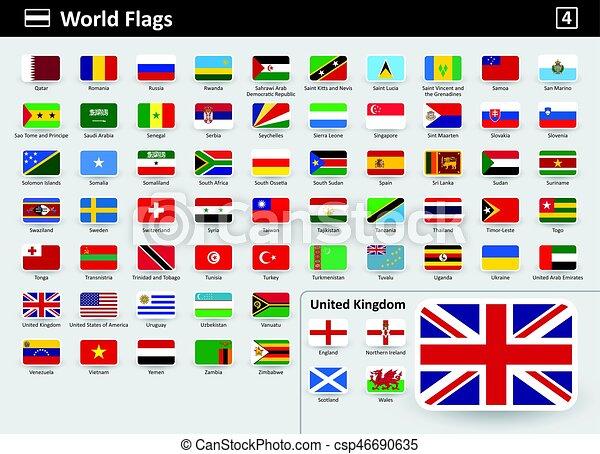 verdens flag med navne