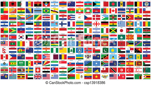 alphabetical world flags - csp13918386