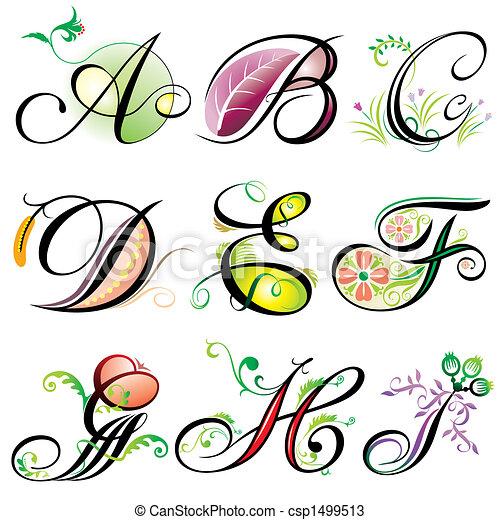 Alphabets Elements A-I - csp1499513