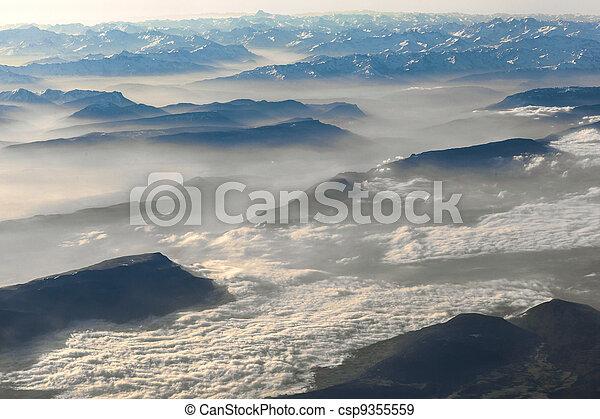 alpi, montagne, vista - csp9355559