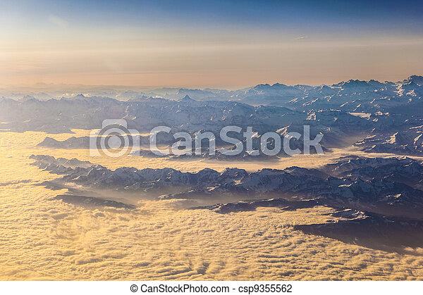 alpi, montagne, vista - csp9355562