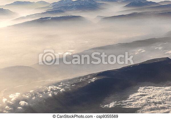alpi, montagne, vista - csp9355569