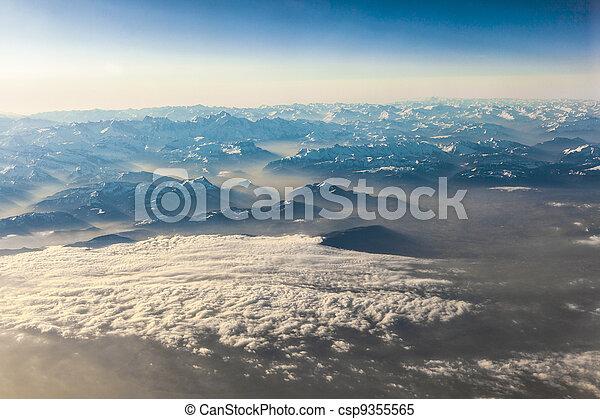 alpi, montagne, vista - csp9355565