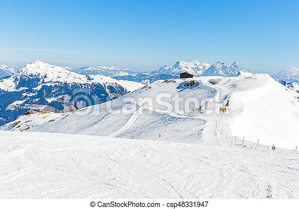 alpi, paesaggio inverno - csp48331947