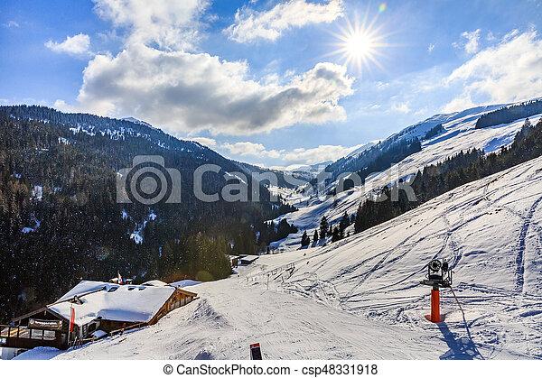 alpi, paesaggio inverno - csp48331918