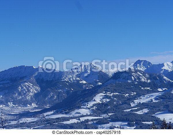 Alpine Alps mountain landscape - csp40257918