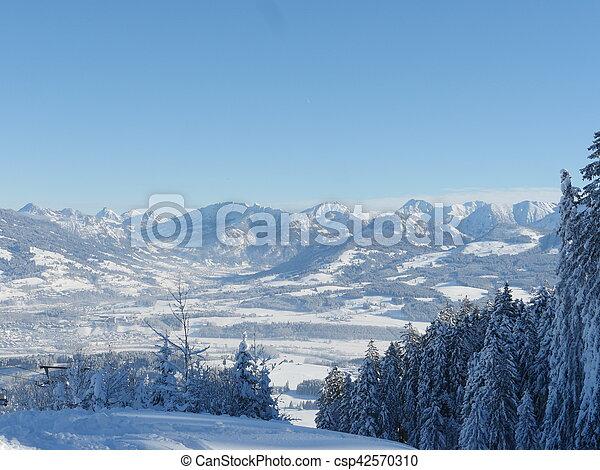 Alpine Alps mountain landscape - csp42570310