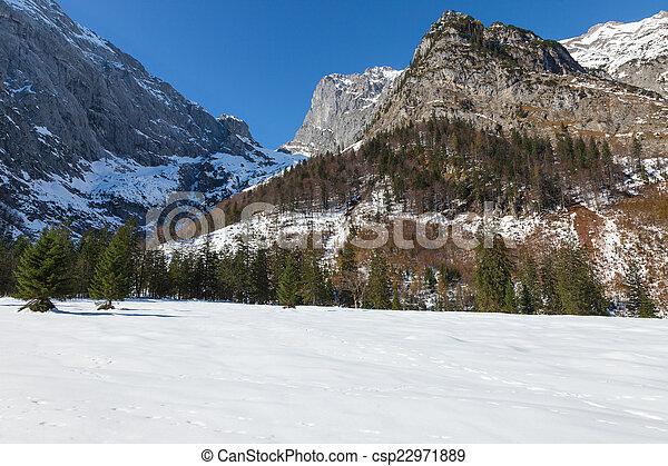Alpine Alps mountain landscape - csp22971889