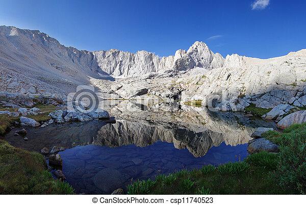 Alpine Lake Reflection - csp11740523