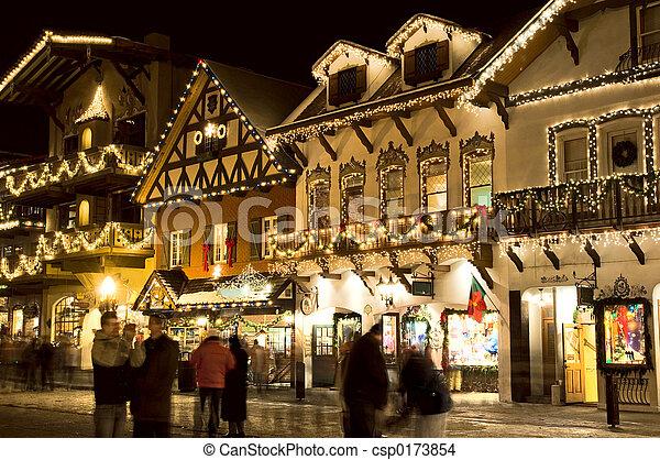 Alpine ski village - csp0173854