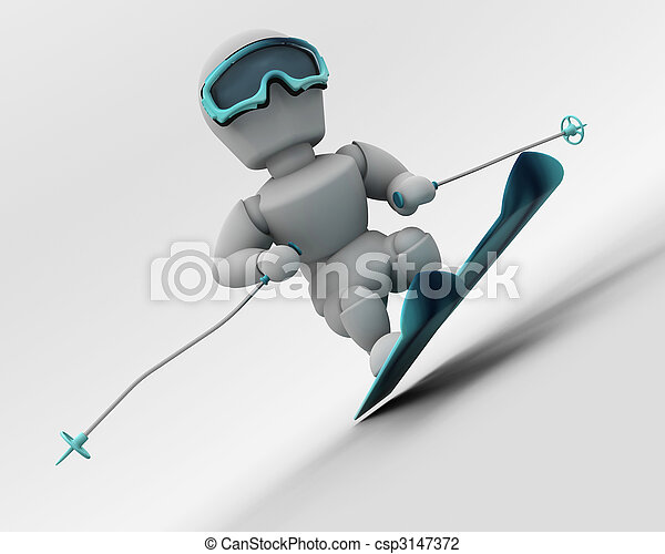 alpine skiing - csp3147372