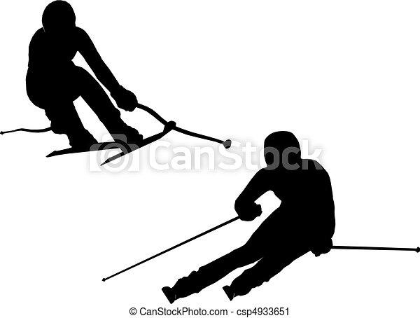Alpine skiing - csp4933651