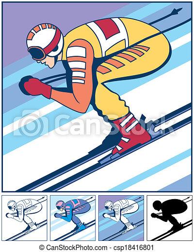Alpine Skiing - csp18416801