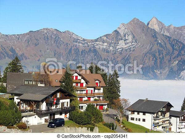 Alpine village - csp2054341