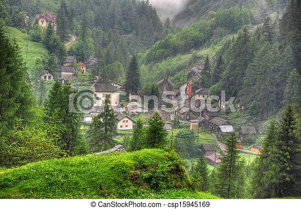 Alpine village - csp15945169