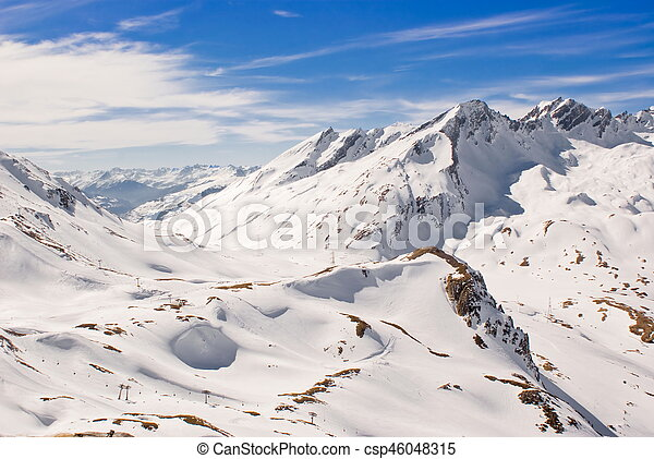Alpine winter landscape - csp46048315