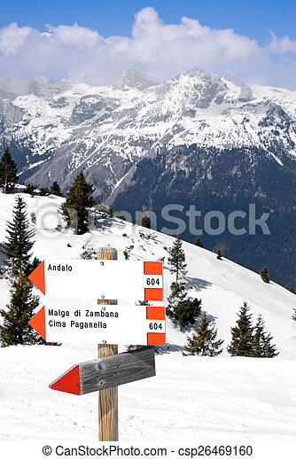Alpine winter landscape - csp26469160