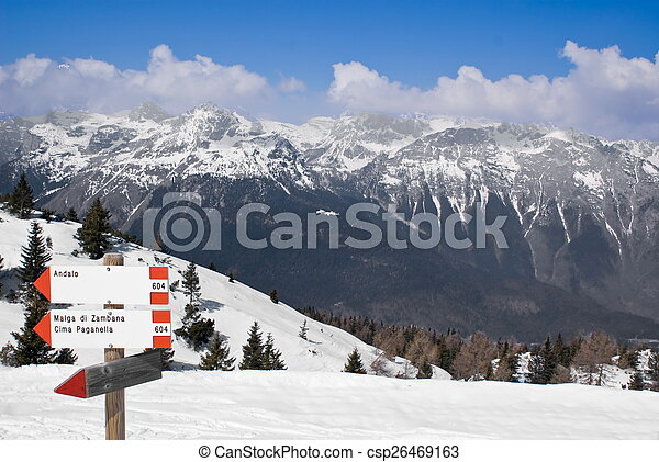 Alpine winter landscape - csp26469163
