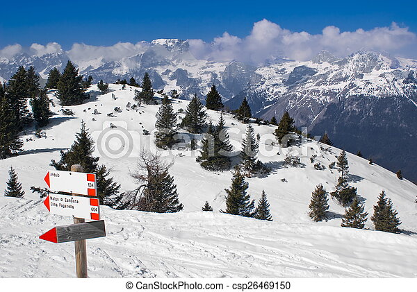 Alpine winter landscape - csp26469150