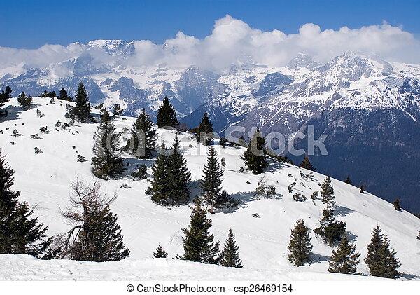 Alpine winter landscape - csp26469154