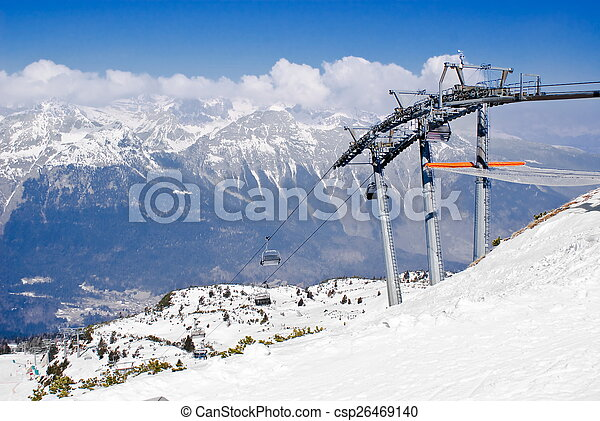 Alpine winter landscape - csp26469140