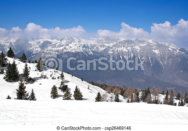 Alpine winter landscape - csp26469146