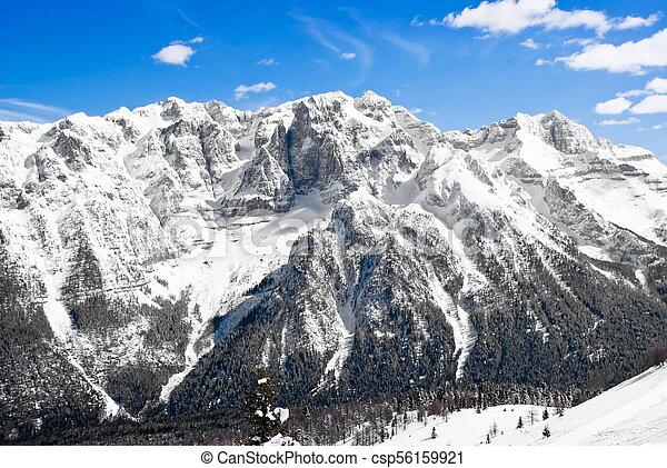 Alpine winter landscape - csp56159921