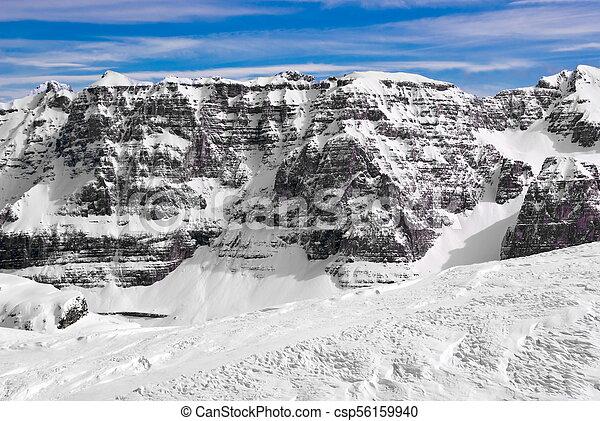 Alpine winter landscape - csp56159940