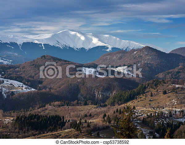 Alpine winter landscape - csp53738592